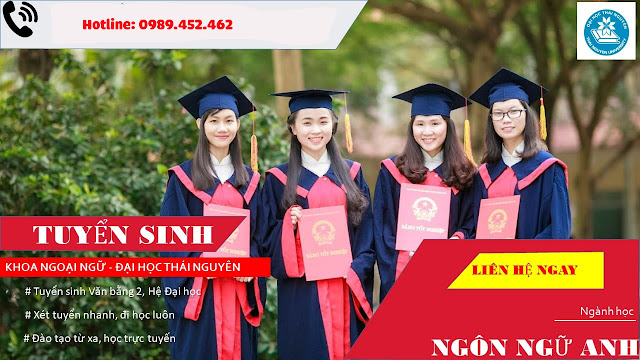 Tuyển sinh Đại học Văn bằng 2 ngôn ngữ Anh năm 2021