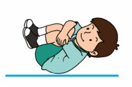 Posisi tidur terlentang sambil mendekap kaki dan badan www.simplenews.me