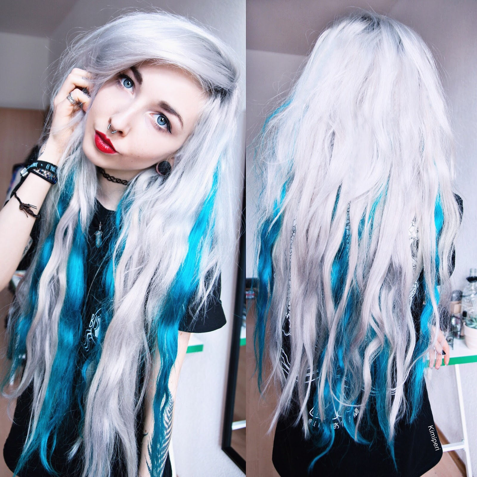 Dyeing My Extensions With Arctic Fox Aquamarine Blackrush
