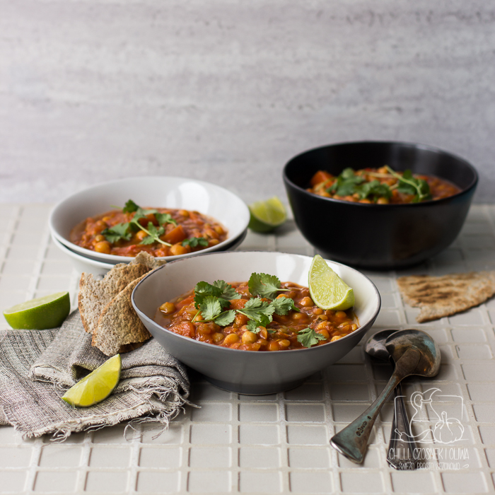 Marokańska zupa harira (wersja wegetariańska)/ Chilli, Czosnek i Oliwa