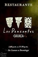 Restaurant Los  Danzantes, Oaxaca, Mexique