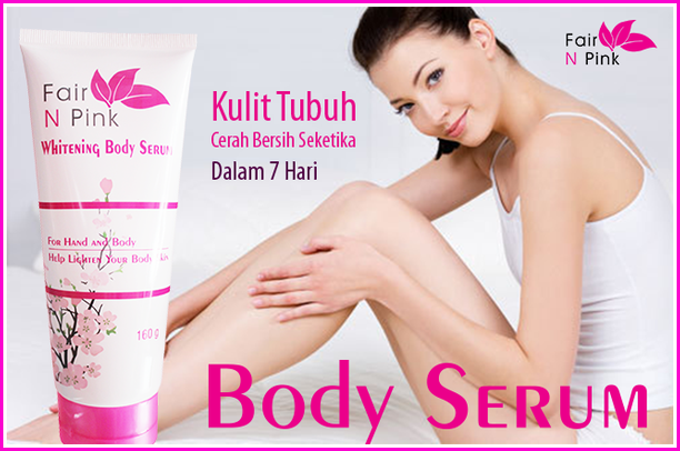Fair N Pink Whitening Body Serum 160ml  Original 100%  Bpom Asli