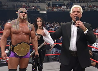 WCW Superbrawl Revenge 2001 - Ric Flair presents WCW Champion Scott Steiner & Midajah