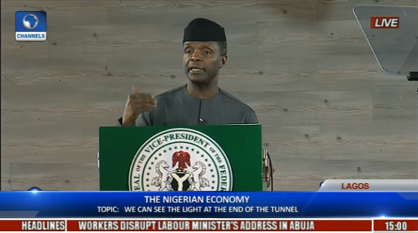 There is Light at the End of the Tunnel – WATCH VP Yemi Osinbajo's Speech at #ThePlatform