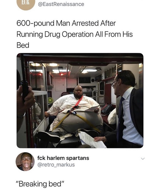 600-pound man arrested after running drug operation all from his bed