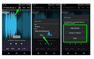 save the ringtone android