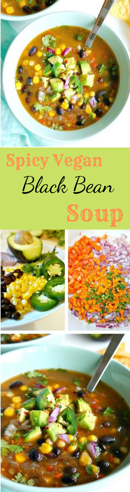 spicy vegan black bean soup #vegan #soup