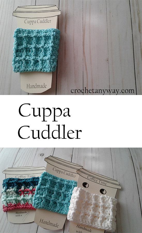 waffle stitch coffee cup sleeve