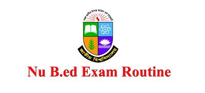 Nu B.ed Exam 2018 Routine 2019 | Edu bd news