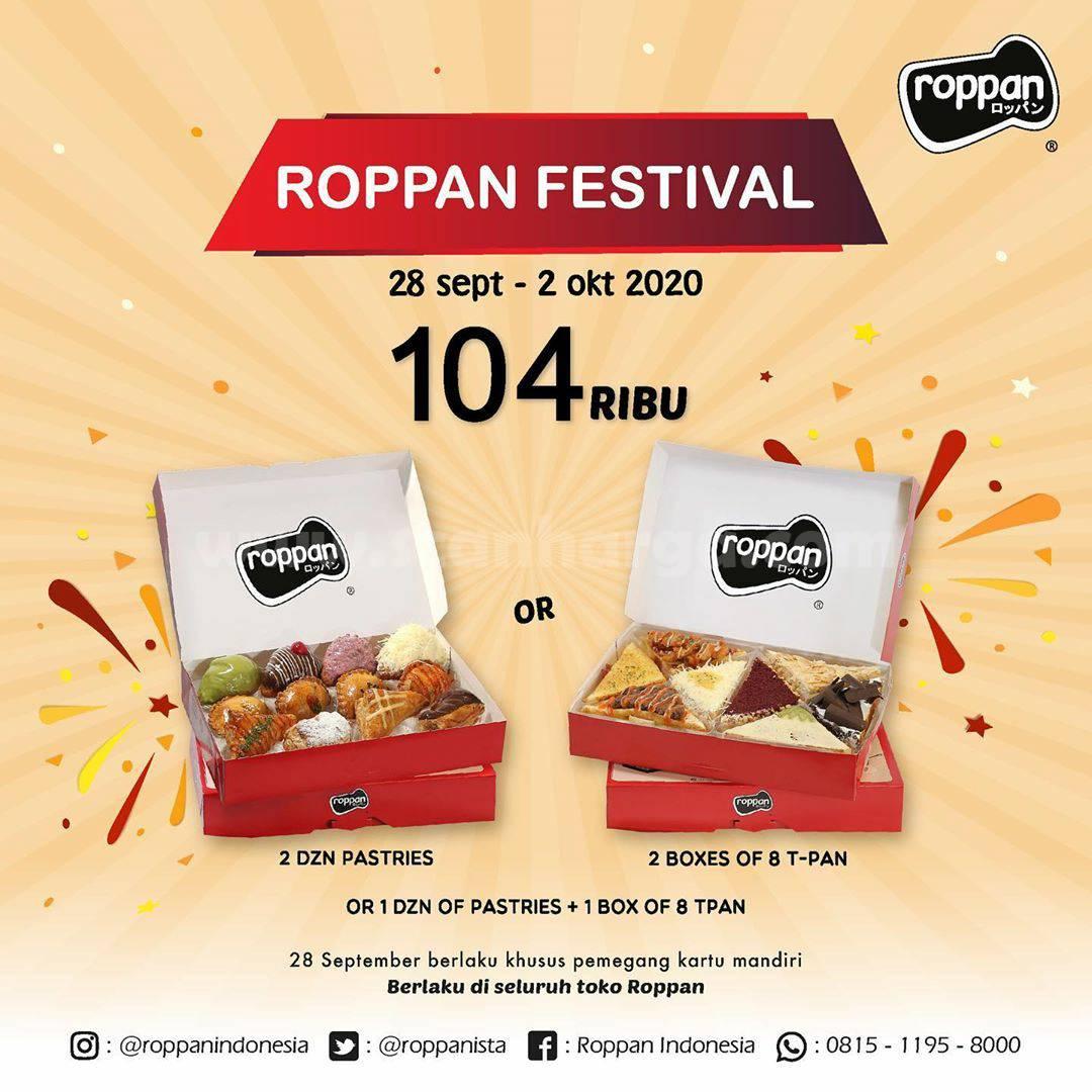 Roppan Festival 2 Dzn Pastries atau 2 box T-Pan Cuma Rp 104 Ribu