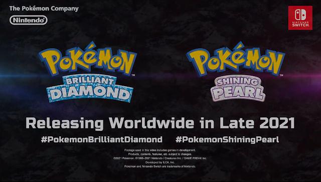 Pokémon Brilliant Diamond and Pokémon Shining Pearl logos Releasing Worldwide Late 2021