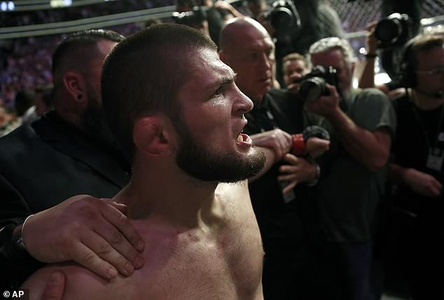 Khabib Nurmagomedov apologizes for sparking mass fight after win over Conor McGregor
