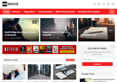 sbt movie premium blogger theme