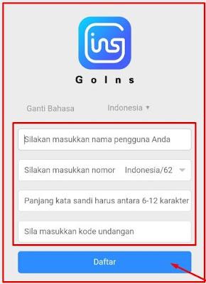 Download Golns APK Penghasil Uang