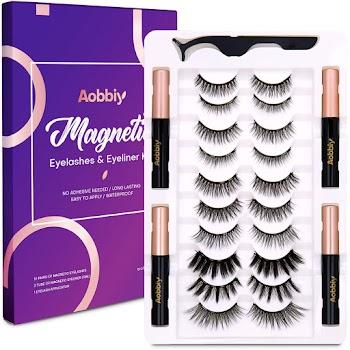 30% OFF Aobbiy Magnetic Eyelashes with Eyeliner Kit