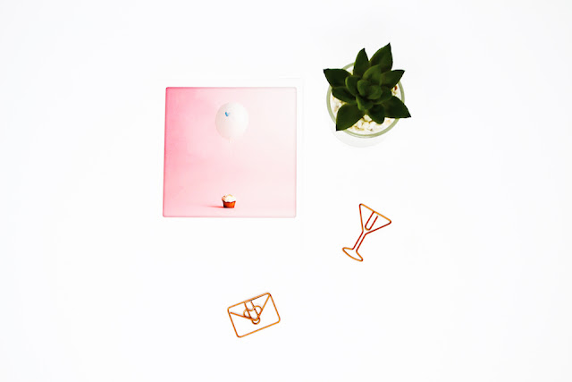 A life update - card and succulent flat lay