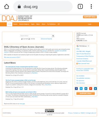 akses jurnal internasional DOAJ