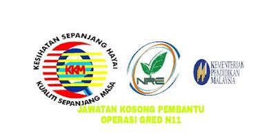 Permohonan Jawatan Kosong Pembantu Operasi Gred N11 2018