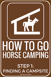 How to Go Horse Camping - Finding a Campsite