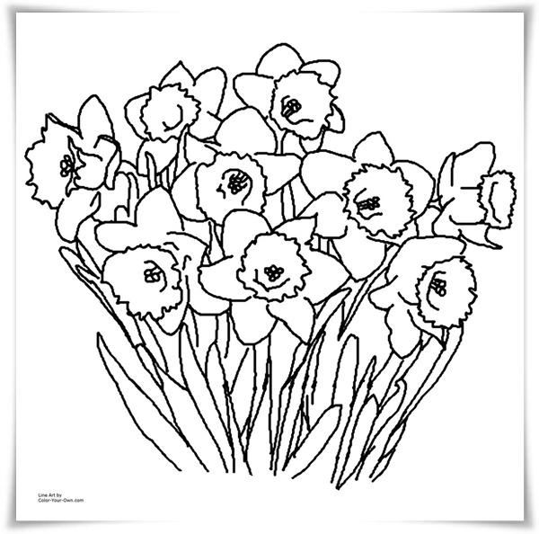 Ausmalbilder zum Ausdrucken: Ausmalbilder Frühling