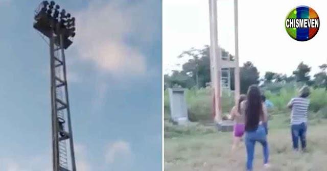 Joven embarazada intentó lanzarse desde una torre de iluminación en el Táchira