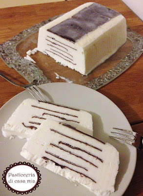 semifreddo alla panna e cioccolato (Viennetta) ricetta di pasticceria di casa mia