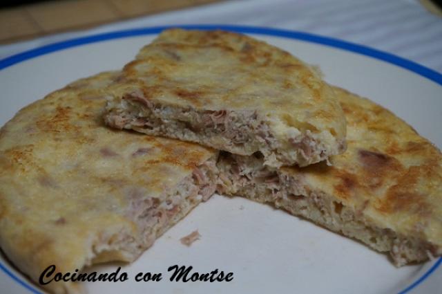 Tortilla Francesa Con Atún Y Queso