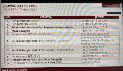 Jadwal Resmi Pendaftaran CPNS dan PPPK Tahun 2021