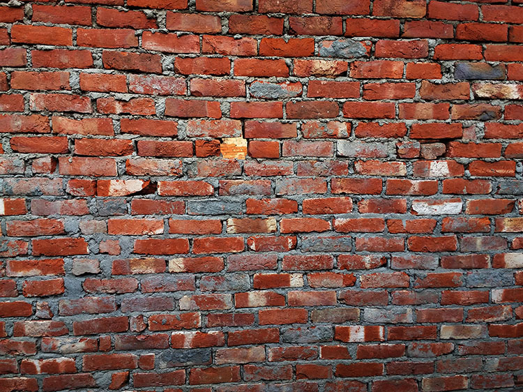 Dark Red Bricks Wallpaper