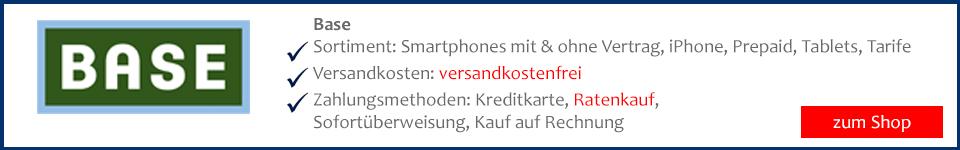 Bei Base Smartphone bestelllen und mit Lastschrift bezahlen