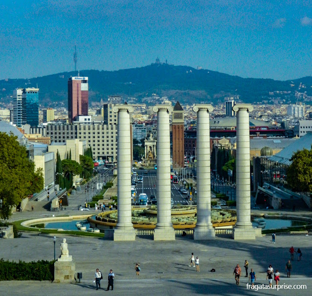 Barcelona vista da Colina de Montjuïc