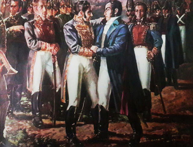 El abrazo de Santa Ana entre Pablo Morillo y Simón Bolívar