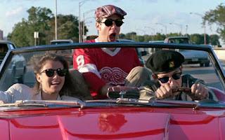 Ferris Bueller drives a Ferrari