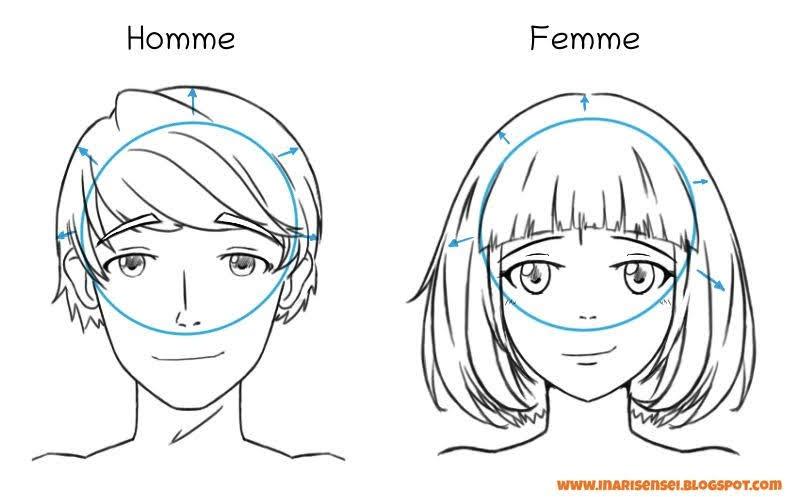 dessiner les cheveux
