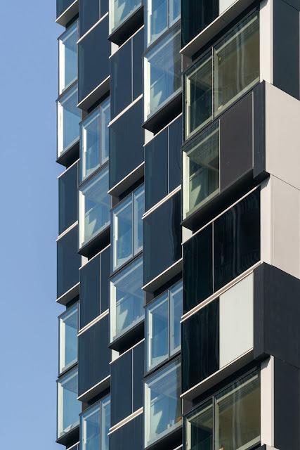 Cận cảnh các module kiểu zig zag của khách sạn the Beacon Hong Kong
