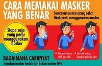 Begini Cara Memakai dan Melepaskan Masker Yang Benar