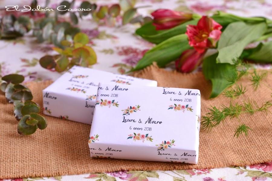Jabones personalizados para detalles de boda regalos para invitados
