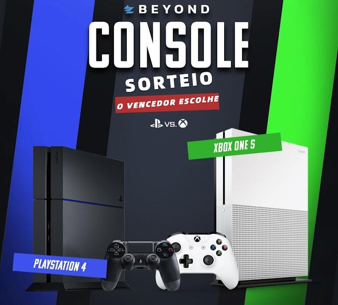 Sorteio de um PS4 ou Xbox One S o Vencedor escolhe