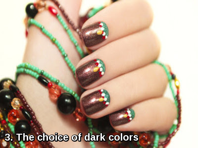 The choice of dark colors