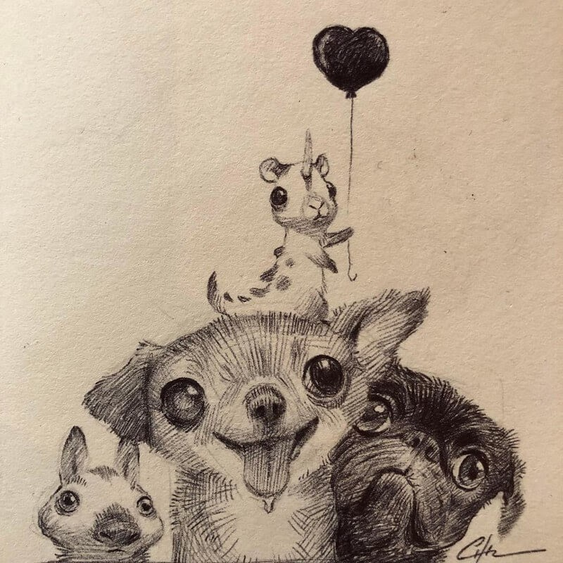 10-Bobby-Chiu-Fun-and-Cute-Ink-Fantasy-Animals-www-designstack-co