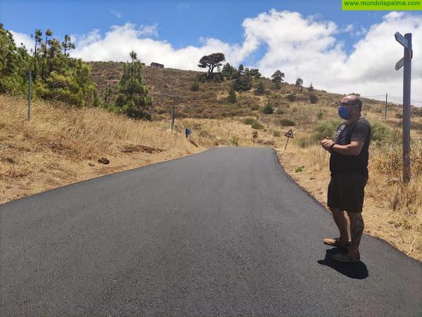 Garafía concluye las obras de repavimentación de la carretera de Cueva de Agua