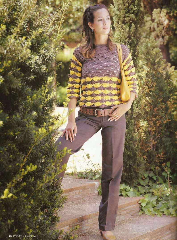 Jersey o Blusa Bicolor a Crochet