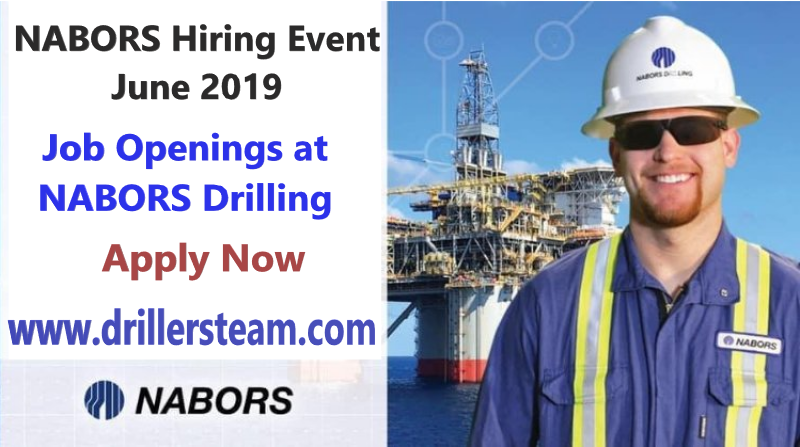 Hiring on the Spot: NABORS Hiring for over 180 Positions