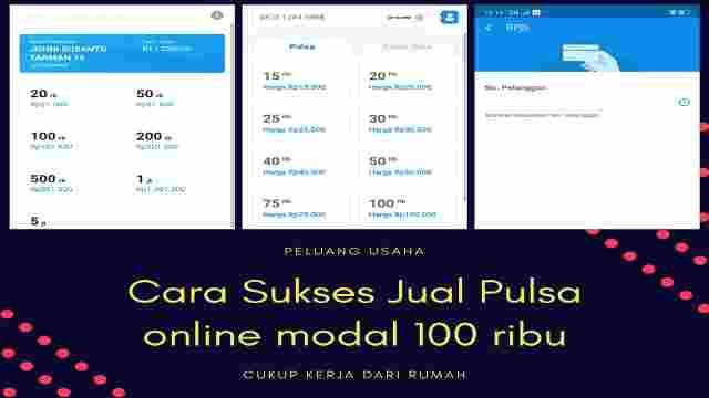 Cara Sukses Jual Pulsa Online Lewat HP Android Modal 100 ...