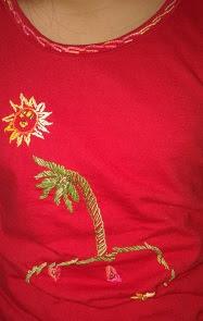 Camiseta desenhada por Gigi - Blog Jardim da Gigi