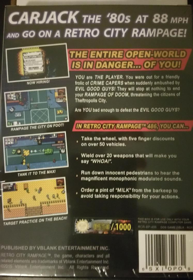 Nerdly Pleasures: Retro City Rampage 486 - A Review of a