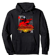 """ Zombie Sunset / Skull V-1 "" T Shirts - Link -Hoodies Adult Sizes Only. Link to Amazon Hoodies for Children"