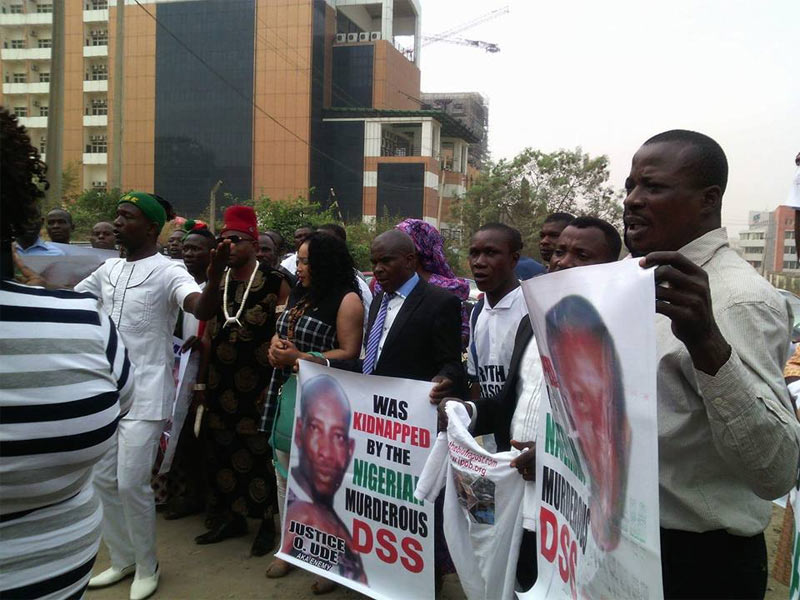 Nnamdi Kanu and co-defendants look dapper as they appear in court