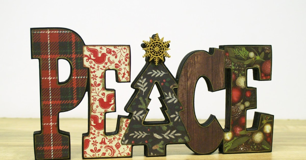 Ben franklin crafts and frame shop diy peace letters decor for Letter k decoration