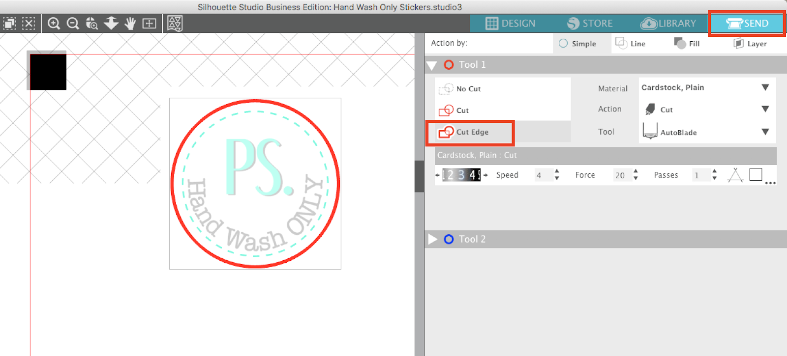 Silhouette Cameo Sticker Tutorial For Beginners Silhouette